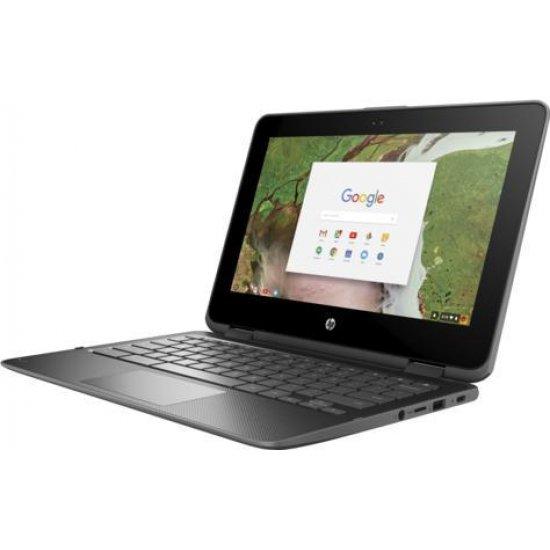 Laptop, Procesor INTEL N3350, Memorie RAM 4096, HDD 64 GB eMMC, WEBCAM, HP CHROMEBOOK X360 11 G1 EE, Sistem de operare: Chrome OS.