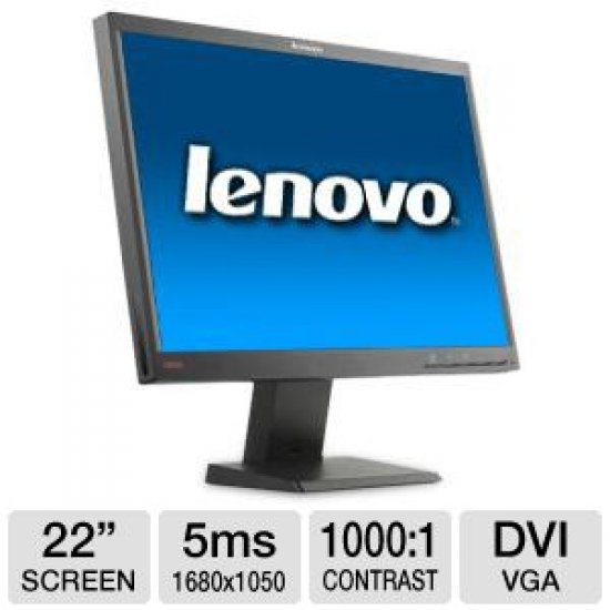 "Monitor LCD 22"" LENOVO ThinkCenter L2250p wide"