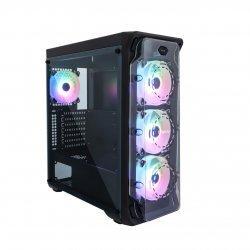 Carcasa Segotep LUX II neagra iluminare RGB