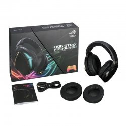 Casti gaming ASUS ROG Strix Fusion 500 iluminare RGB negre