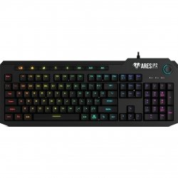 Kit gaming Gamdias Ares P2 iluminare RGB negru