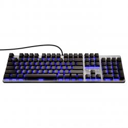 Kit tastatura mecanica si mouse Gamdias Hermes E1C neagra iluminare RGB