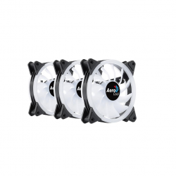 Set 3 ventilatoare Aerocool Duo 12 Pro 120mm iluminare aRGB
