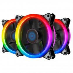 Set 3 ventilatoare Inaza Specter Pro aRGB