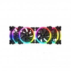 Set 4 ventilatoare Gamdias Aeolus M2 1204R 120mm iluminare RGB