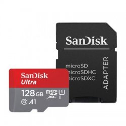 Card de memorie Micro SD 128GB Scandisk CL.10 + adaptor