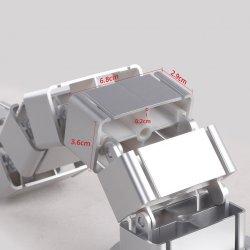 Suport pentru cabluri PC, cable management, reglabil, Gri