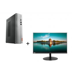 PACHET PROMOTIONAL : Sistem Desktop LENOVO IDEACENTRE 310S-08ASR SFF + MONITOR IPS LED LENOVO THINKVISION T24I-10
