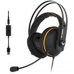 Casti gaming ASUS TUF H7 negre cu galben