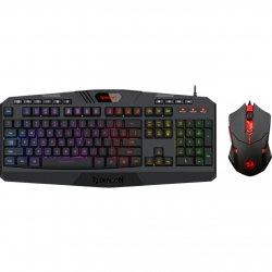 Kit tastatura si mouse Redragon S101 negru