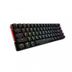 Tastatura gaming mecanica cu sau fara fir ASUS ROG Falchion Cherry MX Red neagra iluminare RGB