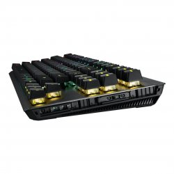 Tastatura mecanica gaming modulara cu sau fara fir ASUS ROG Claymore II ROG RX Red neagra iluminare RGB