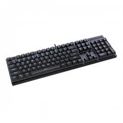 Tastatura gaming mecanica T-Dagger Escort neaga iluminare alba switch-uri rosii