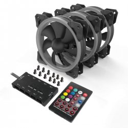 Ventilator Redragon F008 120mm aRGB set 3 ventilatoare