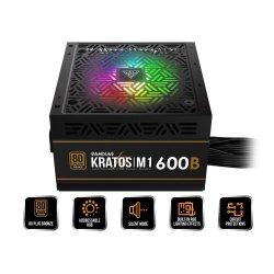 Sursa Gamdias Kratos M1 Bronze 600W iluminare RGB