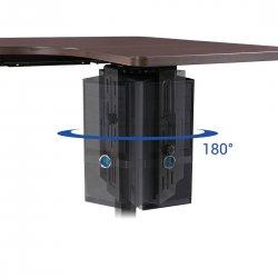 Suport unitate PC, ajustabil pe inaltime si latime, rotatie 180 grade pentru acces la cabluri si porturi