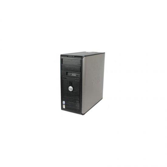 Sistem Tower DELL OPTIPLEX 755 T, Procesor C2D E8400, Memorie RAM: 4096 MB; Memorie stocare: 160 GB; Unitate optica: DVD;